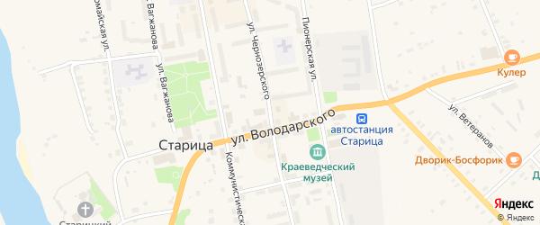 Улица им Чернозерского на карте Старицы с номерами домов