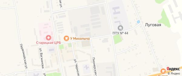 Советский переулок на карте Старицы с номерами домов