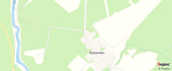 СНТ Строитель-3 на карте деревни Крюково Тверской области с номерами домов