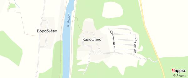 Карта деревни Калошино в Тверской области с улицами и номерами домов