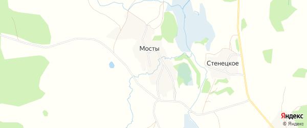 Карта деревни Мостов города Удомли в Тверской области с улицами и номерами домов