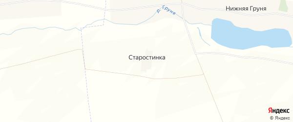 Карта хутора Старостинки в Курской области с улицами и номерами домов