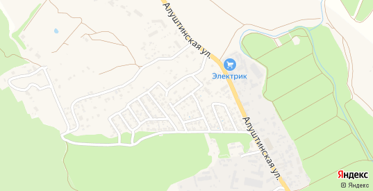 Ароматная улица в Судаке с номерами домов на карте. Спутник и схема онлайн