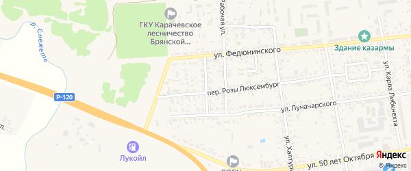 Трудовая улица на карте Карачева с номерами домов