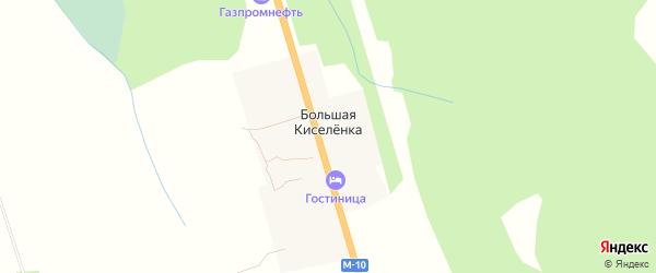 Карта деревни Большей Киселенки в Тверской области с улицами и номерами домов