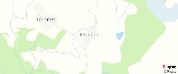 Карта деревни Иваньково города Удомли в Тверской области с улицами и номерами домов