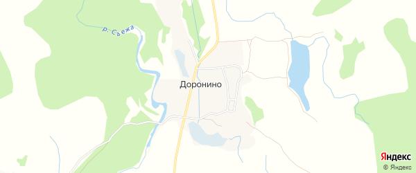 Карта деревни Доронино города Удомли в Тверской области с улицами и номерами домов