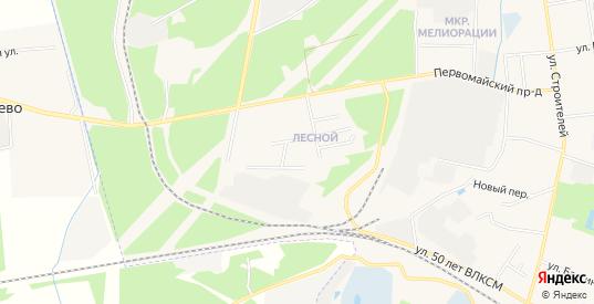 Карта микрорайона Лесной в Гагарине с улицами, домами и почтовыми отделениями со спутника онлайн