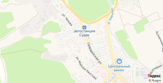 Переулок Суворова в Судаке с номерами домов на карте. Спутник и схема онлайн