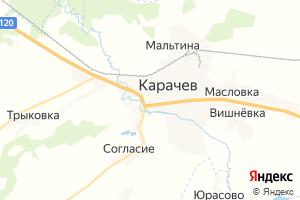 Карта г. Карачев Брянская область
