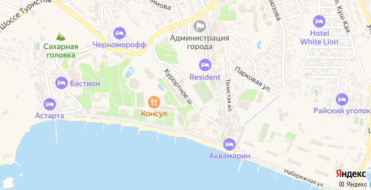 Курортное шоссе в Судаке с номерами домов на карте. Спутник и схема онлайн