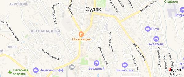 Почтовая улица на карте Судака с номерами домов