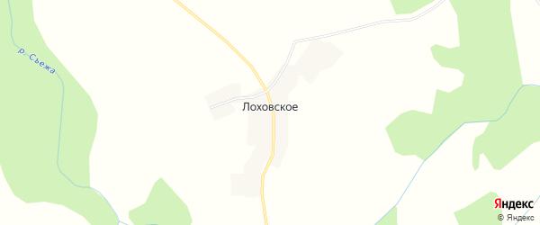 Карта деревни Лоховское города Удомли в Тверской области с улицами и номерами домов
