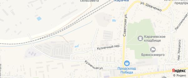 Кузнечный переулок на карте Карачева с номерами домов