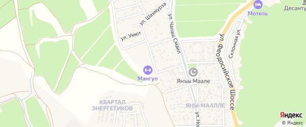 Улица Таракташ на карте Судака с номерами домов