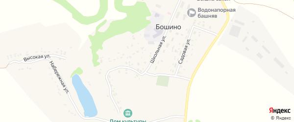 Зеленая улица на карте села Бошино с номерами домов