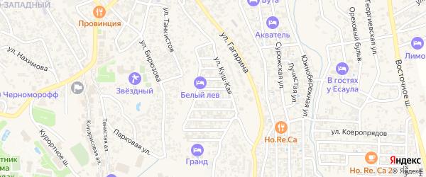 Сары-Кая улица на карте Судака с номерами домов