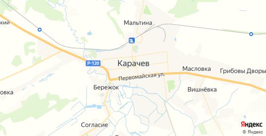 Карта Карачева с улицами и домами подробная. Показать со спутника номера домов онлайн