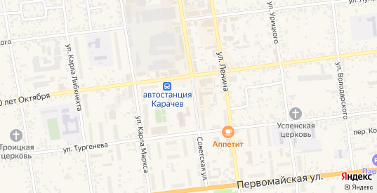 Территория сдт Работников ветстанции в Карачеве с номерами домов на карте. Спутник и схема онлайн