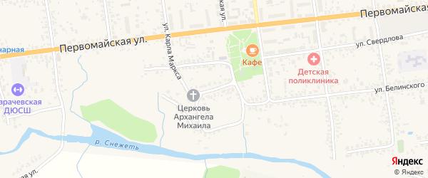 Площадь Карла Маркса на карте Карачева с номерами домов