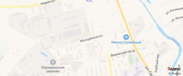Молодежная улица на карте Гагарина с номерами домов