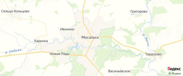 Карта Мосальска с районами, улицами и номерами домов: Мосальск на карте России