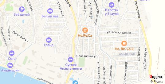 Адмиральская улица в Судаке с номерами домов на карте. Спутник и схема онлайн