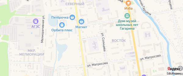 Переулок Глинки на карте Гагарина с номерами домов