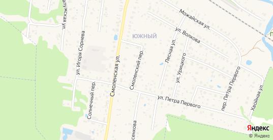 Смоленский переулок в Гагарине с номерами домов на карте. Спутник и схема онлайн