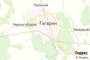 Карта г. Гагарин Смоленская область