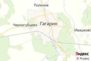 Карта г. Гагарин