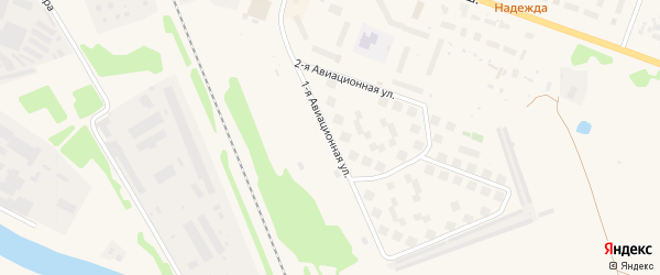 1-я Авиационная улица на карте Торжка с номерами домов