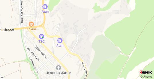 Полярный тупик в Судаке с номерами домов на карте. Спутник и схема онлайн