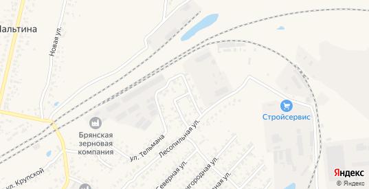 Лесопильный переулок в Карачеве с номерами домов на карте. Спутник и схема онлайн