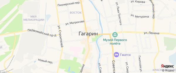 ГСК Металлист на карте Гагарина с номерами домов