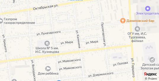 Улица Мира в Карачеве с номерами домов на карте. Спутник и схема онлайн