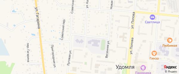 2-й Красноармейский переулок на карте Удомли с номерами домов