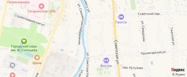Улица Генерала Судоплатова на карте Гагарина с номерами домов