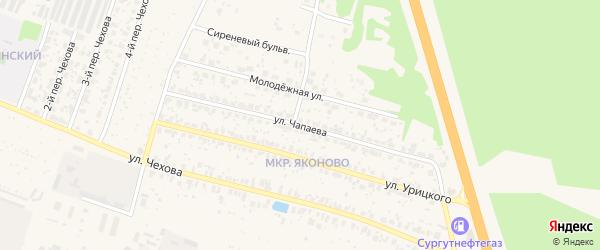 Улица Чапаева на карте Торжка с номерами домов