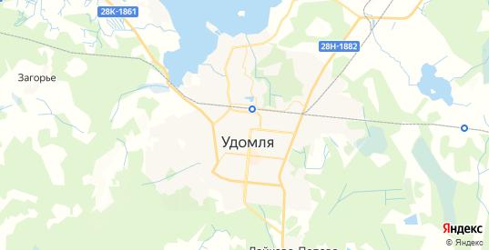 Карта Удомли с улицами и домами подробная. Показать со спутника номера домов онлайн