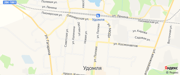 Карта деревни Устья города Удомли в Тверской области с улицами и номерами домов