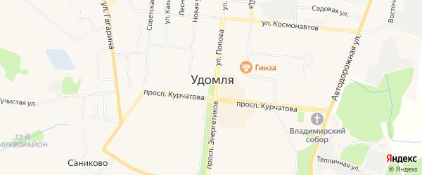 Карта деревни Дмитровки города Удомли в Тверской области с улицами и номерами домов