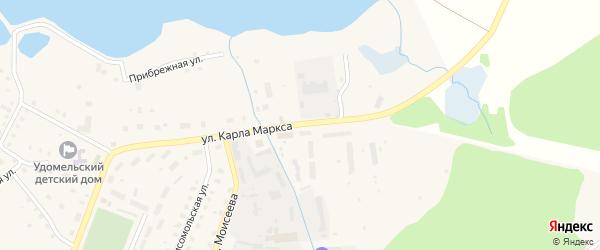 Улица Карла Маркса на карте Удомли с номерами домов