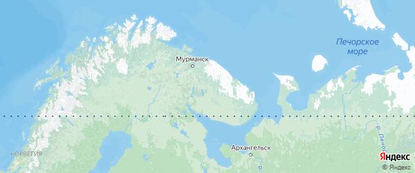 Карта Мурманской области с городами и районами