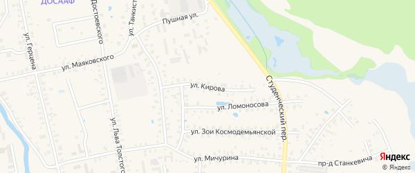 Улица Кирова на карте Гагарина с номерами домов