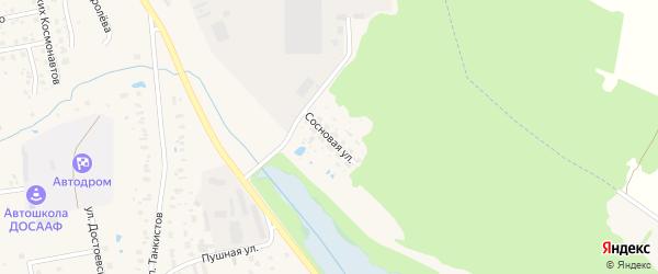 Сосновая улица на карте Гагарина с номерами домов