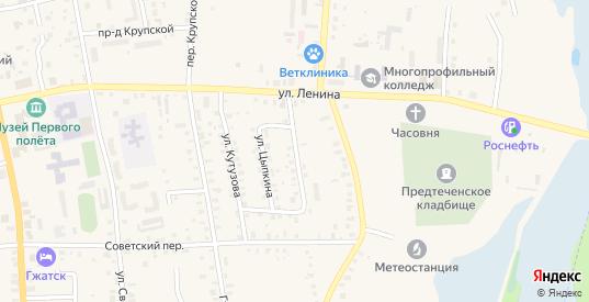 Комсомольская улица в Гагарине с номерами домов на карте. Спутник и схема онлайн