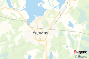 Карта г. Удомля