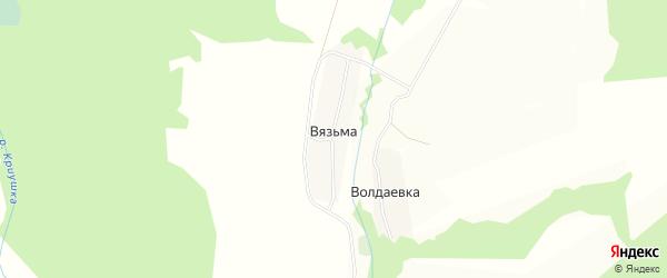 Карта деревни Вязьмы в Калужской области с улицами и номерами домов