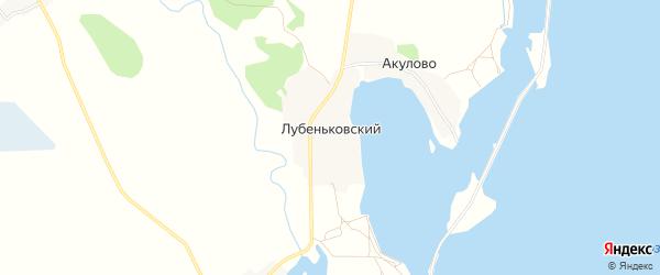 Карта Лубеньковский поселка города Удомли в Тверской области с улицами и номерами домов